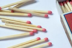 Matchs and matchbox Stock Photo