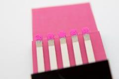 Matchs roses Photographie stock libre de droits