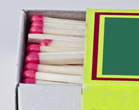 Matchstöcke im Kasten Lizenzfreie Stockbilder
