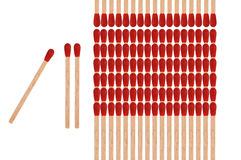 Matchstick. The red wood radial burning of the Match Stock Photo