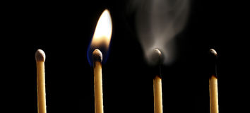 Matchstick. History of a matchstick Royalty Free Stock Photography