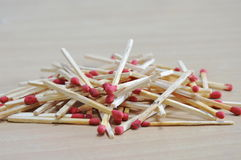 Matchstick batch on floor Royalty Free Stock Image