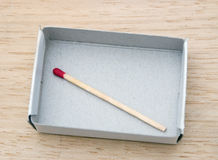 Matchstick in de doos royalty-vrije stock afbeeldingen