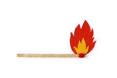 Matchstick with fire flames Royalty Free Stock Images
