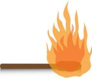 Matchstick. Fire on matchstick just a little hot Stock Photo