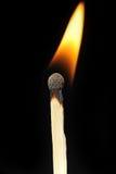 Matchstick flame Stock Photos