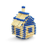 Matchstick house Stock Photography