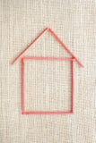 Matchstick House Stock Photos