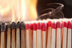 Matchstick Ignition Royalty Free Stock Image
