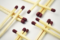 Matchstick interleaved over themselves Royalty Free Stock Photo