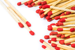 Matchstick isolated Royalty Free Stock Images