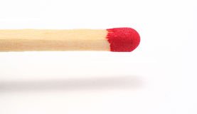 Matchstick; let's start a fire !. Match stick, isolated on white Royalty Free Stock Images