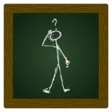 Matchstick mężczyzna z pytaniem Fotografia Stock