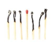 Matchstick niet brandwond royalty-vrije stock afbeeldingen
