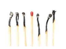 Matchstick Not burn Royalty Free Stock Images