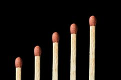 Matchstick pattern Stock Photo