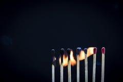 Matchstick-Reihe Lizenzfreie Stockfotos
