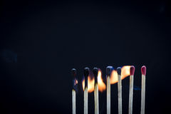Matchstick Row Royalty Free Stock Photos