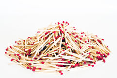 Matchstick. Stacking a few wooden matches Royalty Free Stock Images