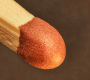 Matchstick tip super marco Stock Image