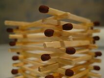 matchstick-tower Royalty Free Stock Image