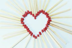 Matchstick white background Royalty Free Stock Photos