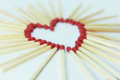 Matchstick white background Stock Photography