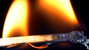 Matchsticken bränner royaltyfri bild