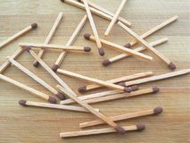 Matchsticks background Stock Image