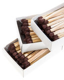 Matchsticks in a box Royalty Free Stock Photos