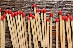 Matchsticks de madeira Foto de Stock