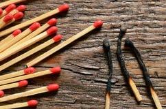 Matchsticks de madeira Fotos de Stock Royalty Free