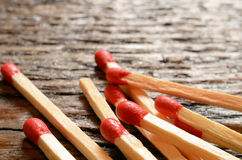 Matchsticks de madeira Foto de Stock Royalty Free