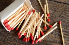 Matchsticks de madeira Imagem de Stock Royalty Free