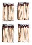 Matchsticks i en ask Royaltyfria Bilder
