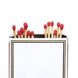 Matchsticks i pudełko na odosobnionym Obrazy Stock