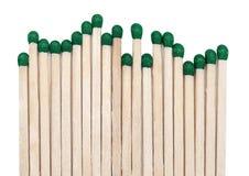 Matchsticks inflamables Foto de archivo libre de regalías