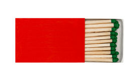 Matchsticks in matchbox Stock Image