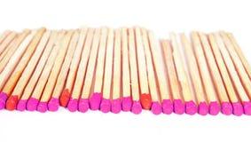 Matchsticks na odosobnionym tle Obrazy Royalty Free