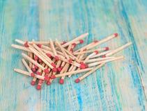 Matchsticks nad drewnianym Zdjęcie Stock