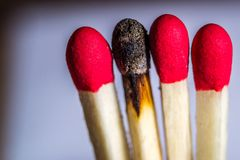 Matchsticks Royalty Free Stock Photos