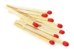 Matchsticks op een witte achtergrond royalty-vrije stock foto's
