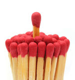 Matchsticks over white background Stock Images