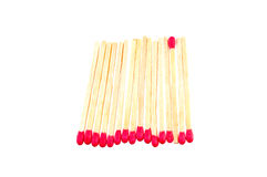 Matchsticks in a row Royalty Free Stock Photos