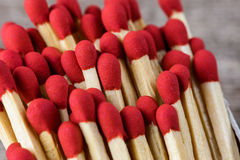 Matchsticks  with vintage style Stock Image