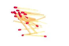 Matchsticks w rozsypisku Fotografia Royalty Free