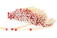 Matchsticks on white Royalty Free Stock Photo