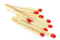 Matchsticks on a white background. Royalty Free Stock Photos