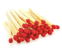 Matchsticks on a white background. Royalty Free Stock Images