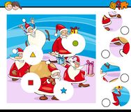 Matchstycken förbryllar med Santa Characters arkivfoto
